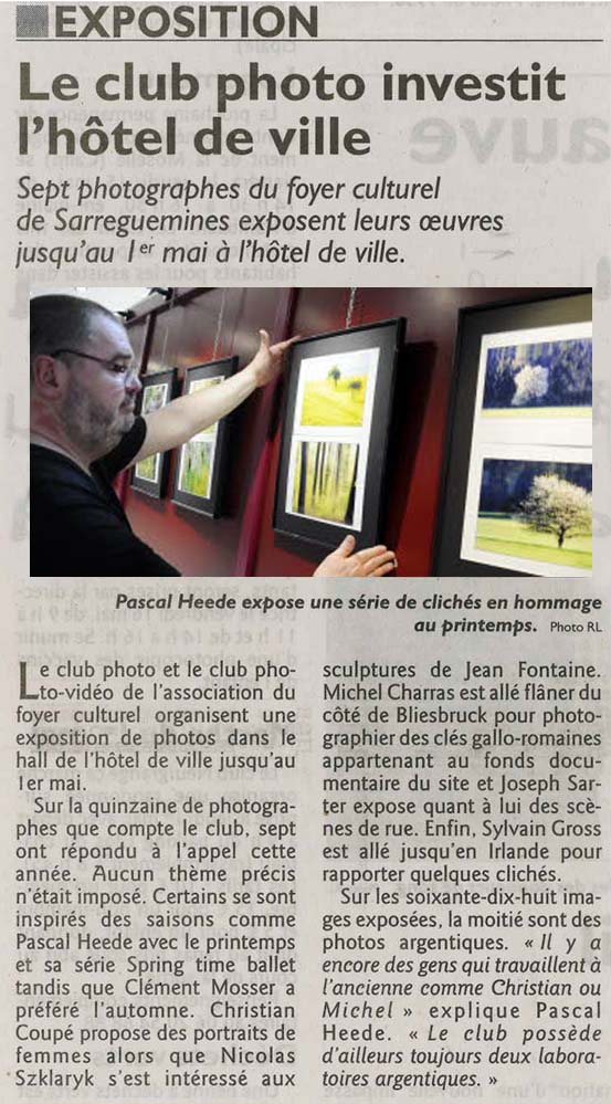 Exposition du club photo 2014